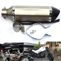 Wholesale exhaust hose online - For mm Inlet For Akrapovic Exhaust Modified Motorcycle Muffler Hose Scooter Dirt Bike Exhaust Muffle Escape Mobile DB Killer