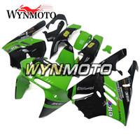 94 plásticos ninja al por mayor-Plástico ABS NINJA ZX-9R 94-97 Carenados completos para Kawasaki ZX9R ZX-9R 1994 1995 1996 1997 Motocicleta Elf Verde Negro Cubierta personalizada