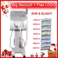 Wholesale ipl machine shr for sale - One handle shr laser skin rejuvenation laser hair removal ipl machine pigmentation vascular acne removal machine