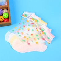 Wholesale trendy baby girl clothing resale online - 5 Pairs Summer Girls Socks Mesh Style Baby Socks with Trendy Elastic Lace Flowers Children Baby Clothes Accessories