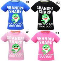 Wholesale baby boy s outfits resale online - Baby Shark Pure Cotton Boy Girls Short T shirt Lovely Cartoon Print Boys Girls T shirt Outfit Short Sleeve Clothing cm cm News C7206