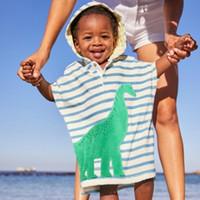baño de niño pequeño al por mayor-Poncho verano de la historieta de los niños del niño de la playa con capucha suave Cover Up Girl Child Boy Swim baño de la playa del desgaste de los niños 1-6Y Albornoz