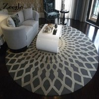 Wholesale series chair for sale - Group buy Zeegle Nordic Gray Series Round Carpets For Living Room Computer Chair Area Rug Children Play Floor Mat Cloakroom Carpets
