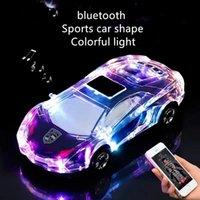 nuevos modelos de luces led al por mayor-Nuevo diseño del modelo del coche del altavoz colorido de la forma LED de luz de flash coche altavoces inalámbricos Bluetooth Tarjeta del TF presidente de la Cámara de Radio FM Manos libres Caja de Sonido