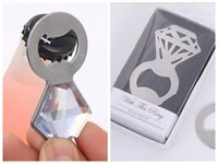(25 Pieces lot) Wedding celebration gift of Sparkle and Pop Diamond Bottle Opener Party Favors For Wedding souvenirs