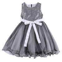 Wholesale girls flower bridesmaid princess wedding dress for sale - Group buy 2019 new fashion Girls Formal Sequins Baby Princess Bridesmaid Flower Dress Wedding Party Dresses
