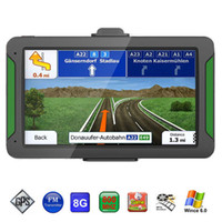 weinauto großhandel-HD 7 Zoll Auto GPS Navigator SAT NAV Navigationssystem FM WinCE 6.0 OS Neueste 8 GB Karten für Mercedes Audi BMW