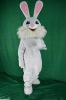 traje de coelho de páscoa venda por atacado-Novo traje de coelho da mascote da Páscoa vestido extravagante animais engraçados bugs coelho mascote tamanho adulto traje da mascote do coelho