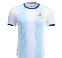joueur achat en gros de-Version des joueurs 2019 Copa América Argentine domicile Maillots de foot 19/20 Maillot de foot 2019 de l'équipe nationale Uniformes de football À la vente