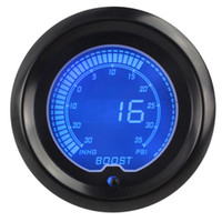 sensor de impulso al por mayor-1 pzas 7 colores Coche universalmente LED Pantalla digital Boost Gauge 30-35psi Con Turbo Sensor Boost Gauge