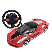 Wholesale 12 electric car resale online - 1 four channel steering wheel remote control car remote control sports car music lighting children s toys