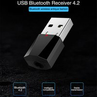 Wholesale mp3 player 1pcs resale online - 1PCS Mini USB Wireless Bluetooth MM Audio Stereo Music Receiver Adapter AUX for Car MP3 player MP3 Music Bluetooth Receiver