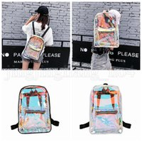 Wholesale jelly school bags for sale - Group buy Women Hologram Laser Backpack Holographic School Bag Waterproof Beach Travel Laser Shining Jelly Shoulder Bags Outdoor Bags OOA5212