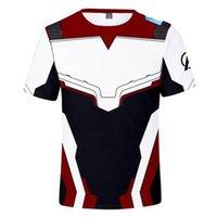 mallas de capitán américa al por mayor-3D Avengers Endgame Realm Cosplay camiseta Iron Man Capitán Marvel Capitán América Casual traje de viuda Sport Tight Tees 4XL