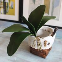 ingrosso foglia di orchidea-foglia artificiale foglia reale tocco phalaenopsis foglia decorativi fiori finti materiale ausiliario decorazione floreale foglie di orchidea C18112601