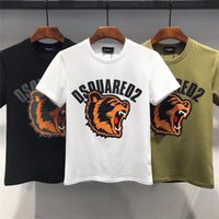 Wholesale t shirts sizes for sale - Group buy 2019 Summer New Arrival Top Quality Men s Clothing Designer T Shirts D2 Print Fashion Tees Size M XL DT468