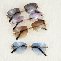 красочные очки оптовых-Rimless Pilot Стиль Солнцезащитные очки для мужчин женщин Красочного выбора для лета Роскошных Carter очков Супер качества оптовой Frames