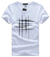 ingrosso sport degli uomini bianco-mens designer magliette abbigliamento Estate Simple Street wear Moda Uomo Cotton Sports Tshirt Casual uomo T-shirt bianca nero plus size 5XL