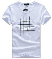 vêtements de rue achat en gros de-mens designer t chemises vêtements été Simple Street wear Mode Hommes Coton Sport T-shirt Casual Mens Tee T-shirt blanc noir plus taille 5XL