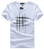 белая летняя одежда оптовых-Мужские дизайнерские футболки одежда Summer Simple Street wear Мода Мужская хлопковая спортивная футболка Повседневная мужская футболка Футболка белый черный плюс размер 5XL