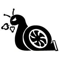 graphiques de voiture blanche achat en gros de-17 * 12.7cm BOOST SNAIL JDM Pour Auto Voiture Autocollants Camion Decal Graphics Vinyle Autocollant Mignon Et Intéressant Autocollant De Mode Stickers