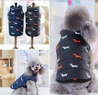 Wholesale pop up clothes resale online - Pet products dog clothes new cotton padded dog clothing in autumn and winter of pop up dog cotton vest