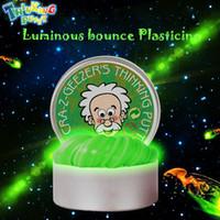 knetmasse modellierung groihandel-Byktoys DIY Luminous Slime Modelliermasse Licht Im Dunkeln leuchten Springender Schlamm Plastilin Knetmasse Bildung Neuheit Kreative Spielwaren