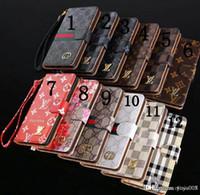 note case nuevo al por mayor-Nuevo estuche de cuero para el teléfono iPhone X 8 7 6 Plus XS XR Carcasa con tapa trasera para Samsung S8 s9 plus note 9 Shell Goophone Xs max