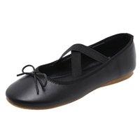 ingrosso scarpe da ballo di yoga-MUQGEW Scarpa da ballo per balletto piatto da donna per il tempo libero in vera pelle per il tempo libero Scarpa da yoga per scarpa a tracolla a forma di croce
