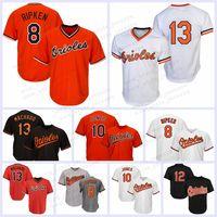 alomar jersey großhandel-8 Cal Ripken Jr. Trikot von Baltimore Oriol 12 Roberto Alomar 13 Manny Machado 10 Adam Jones