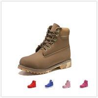 botas marrones para el invierno al por mayor-Original para hombre mujer botas de invierno castaño negro marrón blanco rojo azul gris verde para mujer hombre diseñador bota tamaño 5.5-11 envío rápido aJ