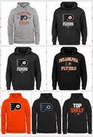 черные хоккейные команды оптовых-Мужская Филадельфия Флайерз Салют To Service Хоккейная команда балахон BLACK