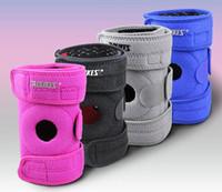 estofamento de cinta venda por atacado-2 PC Knee Brace com suporte de placa de metal Professional Sports Safety Knee Suporte Knee Pad Guarda Protector Strap
