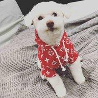 süße sweatshirts großhandel-Teddy Puppy Pet Hoodies Niedliche Schnauzer Kleine Hundebekleidung Baumwolle Atmungsaktiv Weiches Haustier Kleidung Flut Marke Pet Supplies