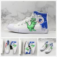 el boyalı spor ayakkabıları toptan satış-70 s Bir Yıldız El Boyalı Tasarımcı Sneakers Erkekler Kadınlar için Klasik Spor Ayakkabı Kaykay Sokak Giyen için Yeni Sneakers