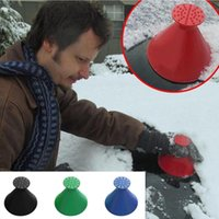 Wholesale New Scrape A Round Ice Scraper Car Windshield Snow Scraper Cone Shaped Ice Scrapers Simple And Easy To Get Snow Off Your Car MMA1112