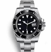 механический механический оптовых-Верхняя керамическая рамка мужская механическая нержавеющая сталь автоматическая 2813 движение часы спортивные часы Self-wind часы светящиеся наручные часы