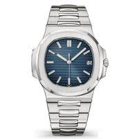 relógios de luxo venda por atacado-Top Nautilus Assista Men Automatic relógios de luxo 5711 Silver Strap Blue Mens Stainless Mecânica Orologio di Lusso Relógio de pulso Data Chrono