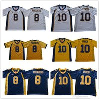 8f4148465 8 Aaron Rodgers 10 Marshawn Lynch California Golden Bears College Football  Jerseys Stitched Yellow White Blue Jersey Shirts