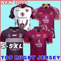 camisas grandes venda por atacado-2019 camisa de rugby QLD MAROONS INDÍGENA de rugby Jerseys 2019 2020 Home Jersey Marvel National Rugby League Austrália NRL Big Sise S-5XL