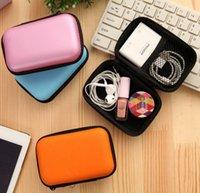 mobil şarj cihazı renkleri toptan satış-Dijital Saklama Çantası Veri Kablosu Fermuar Çanta Kulaklık Paketi Durumda Cep Telefonu Şarj Organizatör Çeşitli Eşyalar Seyahat Saklama Çantası 5 Renkler YW3892