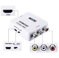 adaptateur pal achat en gros de-Adaptateur HDMI vers RCA CVBS Convertisseur vidéo 1080P Adaptateur HDMI2AV Prise en charge de la boîte de conversion NTSC Sortie PAL Adaptateur HDMI-AV