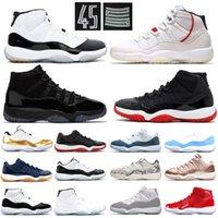 erkekler düşük kesim basketbol ayakkabıları toptan satış-11'ler Basketbol Ayakkabıları Concord 45 Platin Ton Barons Win gibi 96 XI Tasarımcı Sneakers 11 Düşük Hight Kesim Erkek Kadın Spor Ayakkabı Size36-47