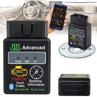 couple v2.1 elm327 achat en gros de-Nouvel OBD2 II V2.1 ELM327 Bluetooth Scanner de voiture Android Torque Auto Outil d'analyse DTC