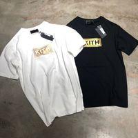 ingrosso giovane casual-KITH Box Logo Classic T-SHIRT Young Tee Hip Hop Moda Uomo Donna T-shirt Simple Street Skateboard Casual Maniche corte Estate HFYMTX537