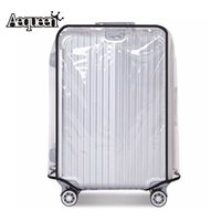 capas de maleta impermeáveis venda por atacado-AEQUEEN PVC Transparente À Prova D 'Água Trolley Mala Sacos de Pó Bagagem Capa Protetora Caso de Viagem Acessórios Aplicar para 20