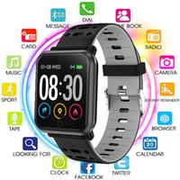 tarifas de telefonía móvil al por mayor-P11 Android inteligente reloj inteligente de los deportes de presión monitor de frecuencia cardíaca resistente al agua de la sangre del teléfono móvil de las mujeres y los hombres del reloj