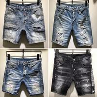 ingrosso giovani in vendita-2019 Nuovo famoso designer di marca lungo strappato giovani jeans da uomo individualità morbida qualità morbida moda jeans biker di lusso per gli uomini vendita calda