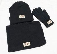 luvas climáticas venda por atacado-Novo designer chapéus cachecóis luvas Define luvas cachecol fashion Beanie Cold Weather Acessórios Cashmere presente Conjuntos para Homens das Mulheres