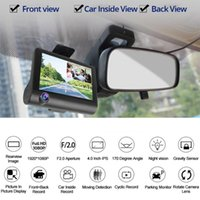 Wholesale auto registrator for sale - Group buy 170 Degree Lens Car DVR Dash Cameras Driving Video Recorder Auto Registrator Dvrs windshield with Rearview Mirror Cam F2